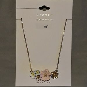 "New! Loran Conrad 16"" Spring Flower Necklace!"
